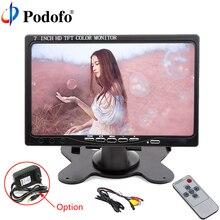 Podofo 7″HD LCD Screen Car Rear View Monitor,HDMI VGA Video Audio Mini Computer & TV Digital Display For Rear Camera Car-styling
