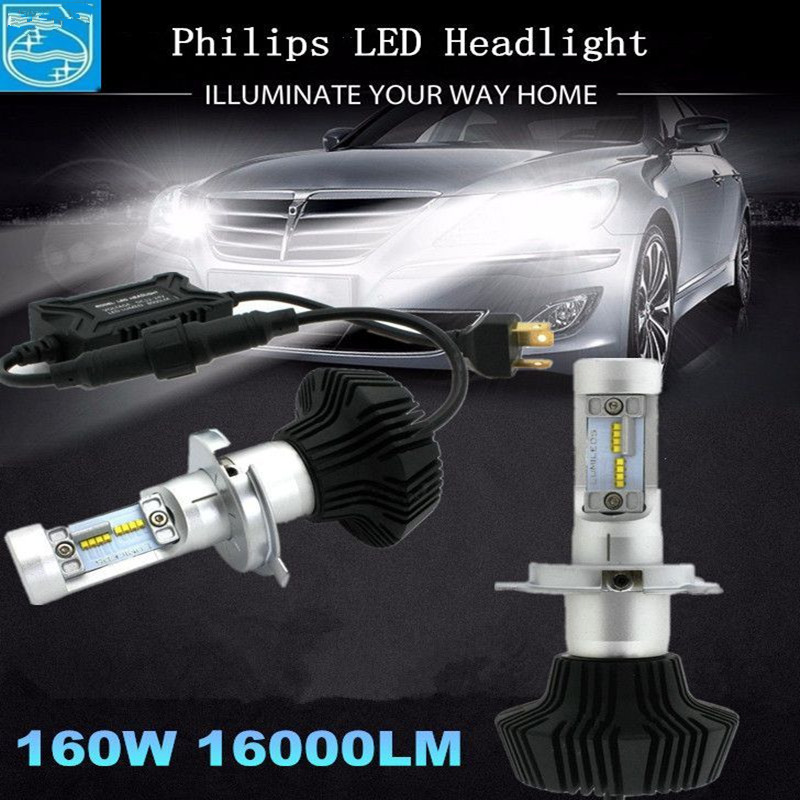 G7 H1 H3 H4 H7 H11 9005 9006 881 LUMILEDS H4 Hi/Lo Beam Car LED Bulb DRL Auto Light 6000K Used Car Led Headlight Kits LUXEON ZES