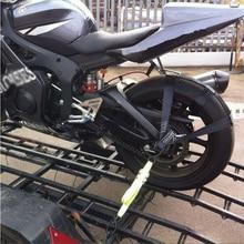 Для мотоцикла, мотоцикла, черного цвета, заднее колесо, транспортная планка, стяжной ремень
