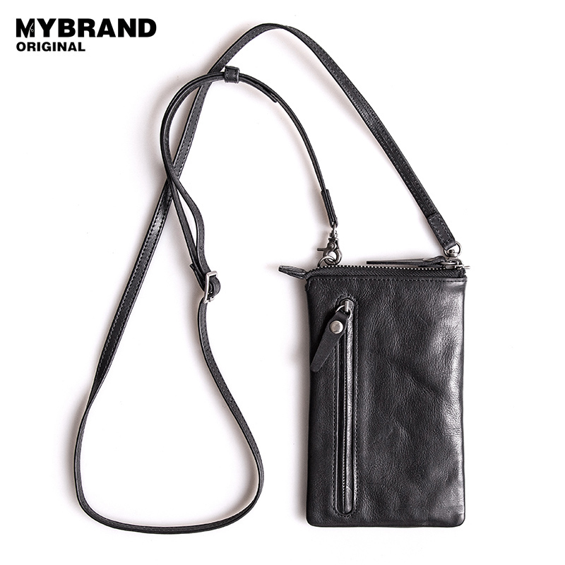 20c6612ac417 MYBRANDORIGINAL casual mini genuine leather shoulder bag for man phone bag  zipper cow leather women crossbody messenger bag Q59