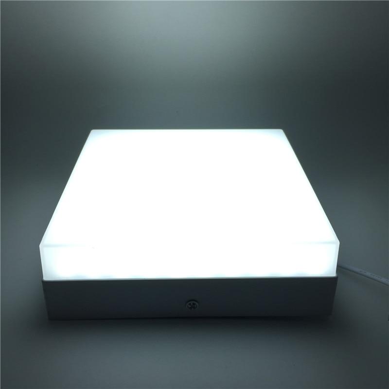 Квадратные светодиодные потолочные светильники, 1 шт./лот, 6 Вт, 12 Вт, 18 Вт, 24 Вт, круглые потолочные светильники 2835SMD 220 В, 110 В        АлиЭкспресс