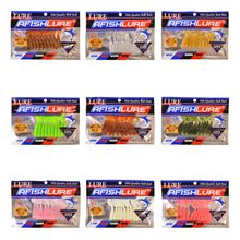 90pcs/lot 55mm 1.6g Curly Tail Soft Bait Wobblers Fishing Lure Swimbaits Silicone Bait Twisted Soft Worm Soft lure set(China)