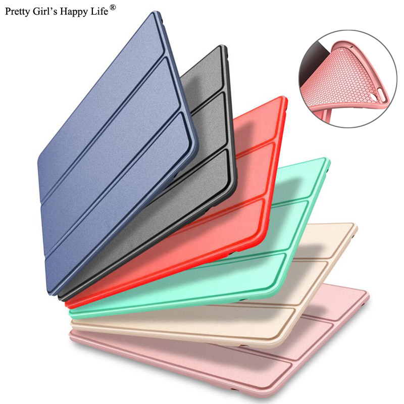 For iPad 2018 A1893 Case For iPad 2017 A1822 Silicon Smart Wake Sleep Cover For iPad 9.7 ...