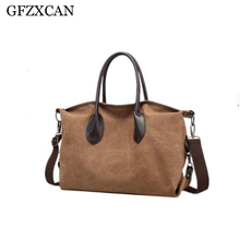 GFZXCAN Brand Elegant Fashion Travel Bag Canvas Large Capacity Shoulder Messenger Fitness Yoga Tote