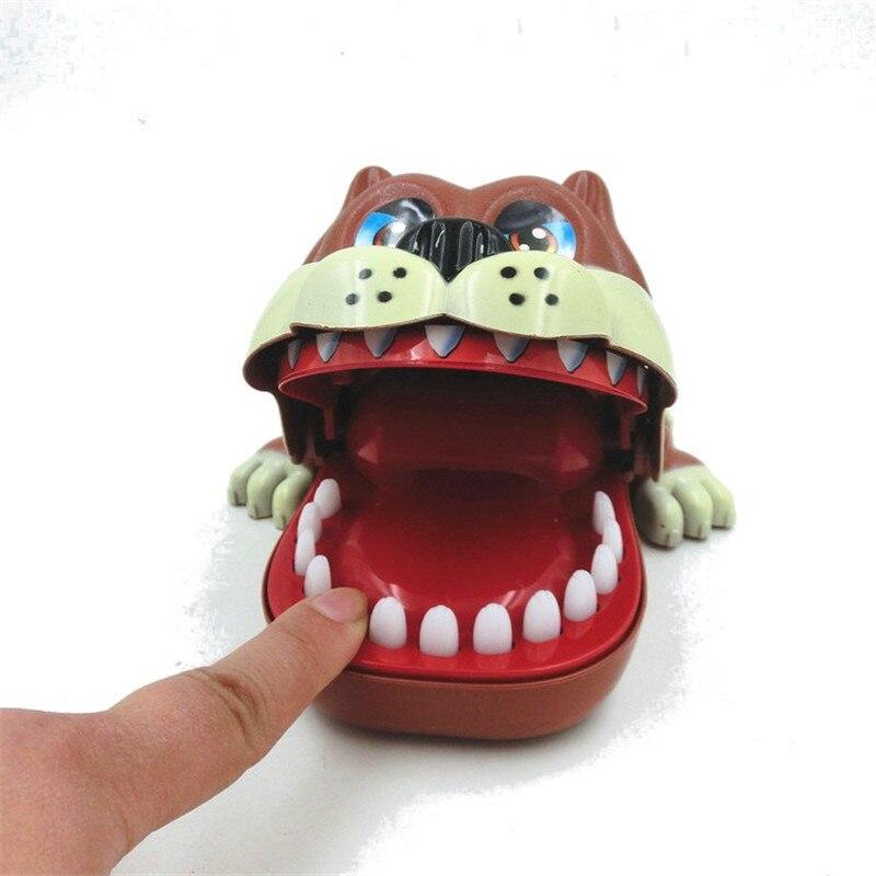 Funny Big Mouth Dog Bite Finger Attention Toys Novelty Fidget Reduce Stress For Kids Children Gift