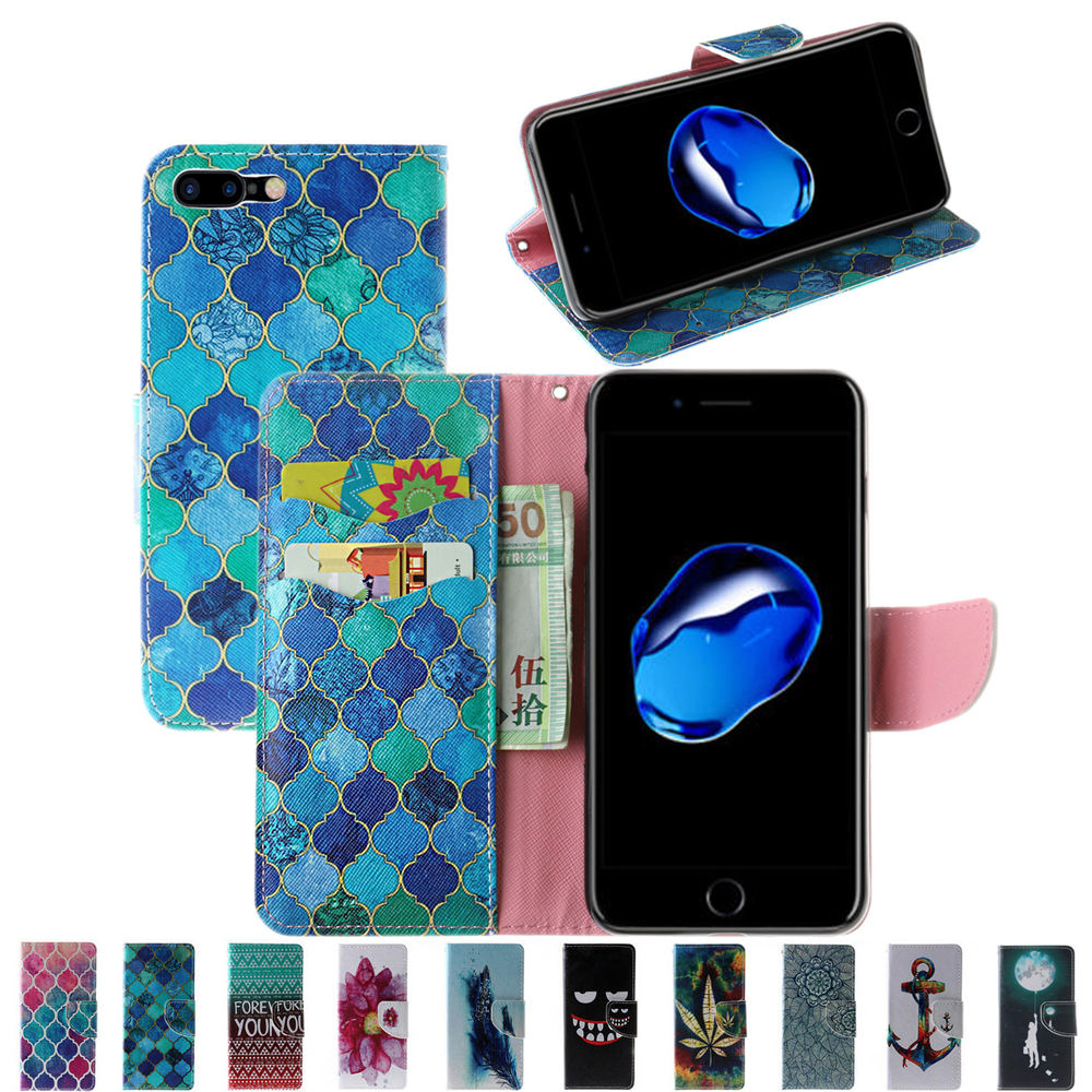 Fashion Book Style PU Leather Flip Stand Business Case For iPhone 7 Plus 7Plus Dustproof Wallet Cover Shell For Apple 7 Plus