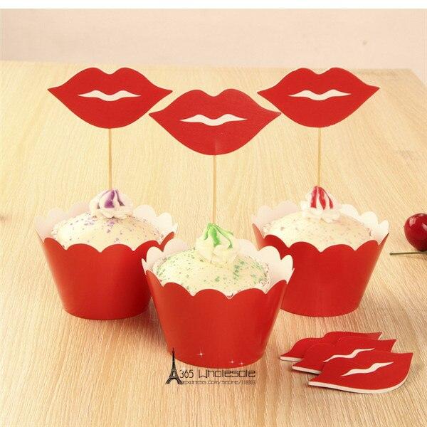 Freeshipping Baking DIY 36sets Wholesale Paper Cupcake Toppers+Wrap ...