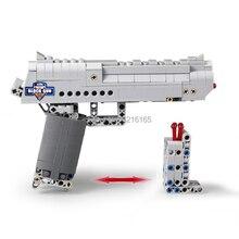 NEW 307pcs Building Blocks Desert Eagle Gun model Bullet Military series toys Compatible Major Brands Bricks Gift for Kids Teens