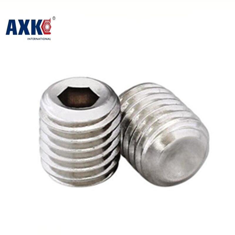 2018 Sale Vis Parafusos Screws For Laptops Axk 50pcs Din913 M1.6 M2 M2.5 A2 Stainless Steel Flat End Hex Socket Set Grub Screw 50pcs iso7380 m2 m2 5 m3 a2 stainless steel hex socket button head screw screws