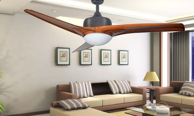 Vintage eenvoudige plafond ventilator 52 inch led lamp eetkamer ...