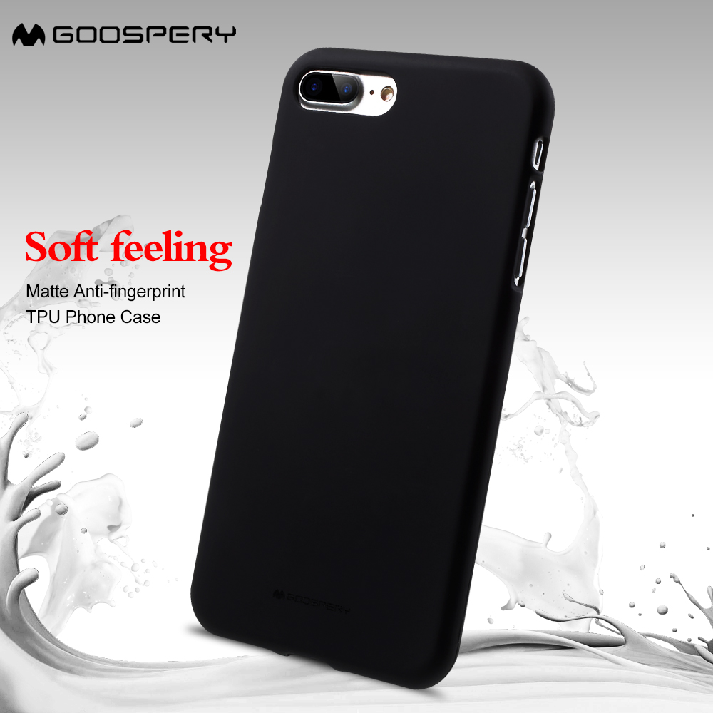 Mercury Goospery Case For Iphone 8 7 Soft Feeling Matte Anti 6 6s Pearl Jelly Black Fingerprint Tpu Phone Cover Iphone7 Coque In Fitted Cases From