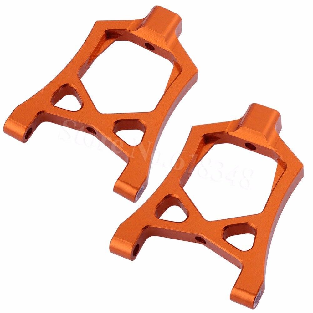 Aluminum Front Upper Suspension Arms Set (L/R) For 1/5 HPI Baja 5B 5SC 5T 5R SS T1000 KM ROVAN 85400 Hop-Up Parts