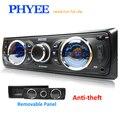 Автомагнитола RDS  1 Din  Bluetooth  стерео  fm-приемник  съемная панель  аудио  mp3-плеер  12 В  ISO  головное устройство PHYEE SX-MP3382BT