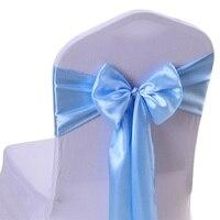 RUBIHOME 1 Roll 20 Meter Width 10cm Chair Sash Band Silk Ribbon Hair Cover For Wedding