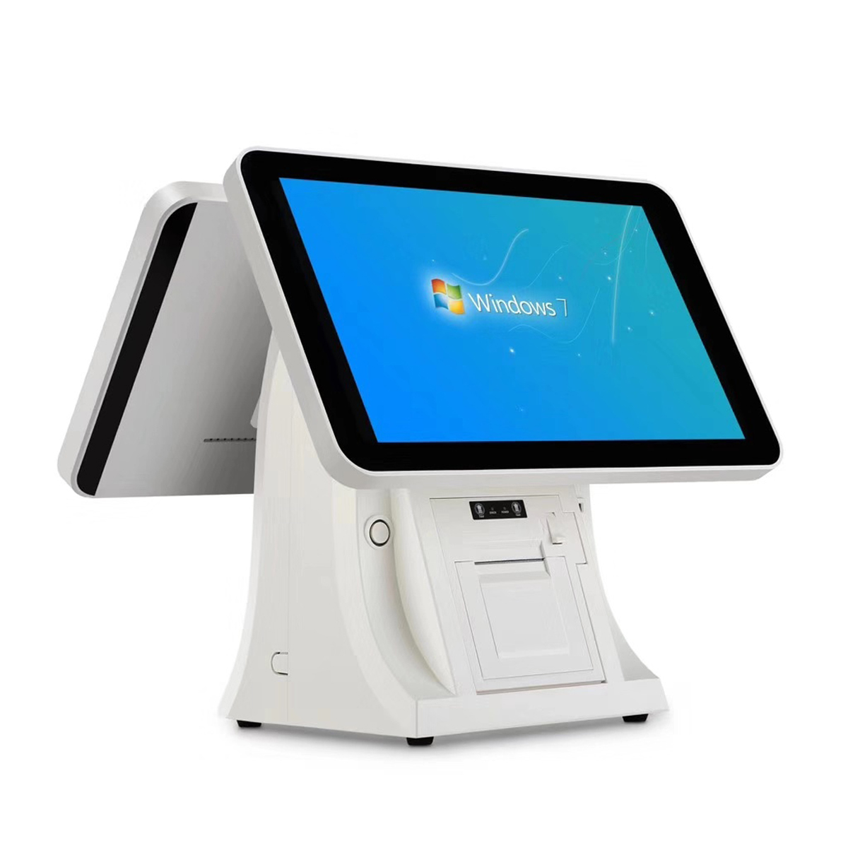 New 15inch pos cash register machine with built in 58m printer and qr code scanner