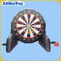 Commercial 13.1ft High Inflatable Dart Boards, 2 Sides Inflatable Soccer Dart Game , Inflatable Football Darts,Balls Included