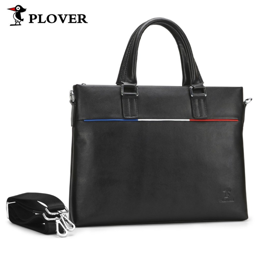 PLOVER Men Business High-capacity Handbag Genuine Cow Leather Bags Shoulder Bag Double-purpose Anti-theft Portable Briefcase authentic polo golf double clothing shoes bags mens golf apparel travel bag bolsas zapatos double garment high capacity package