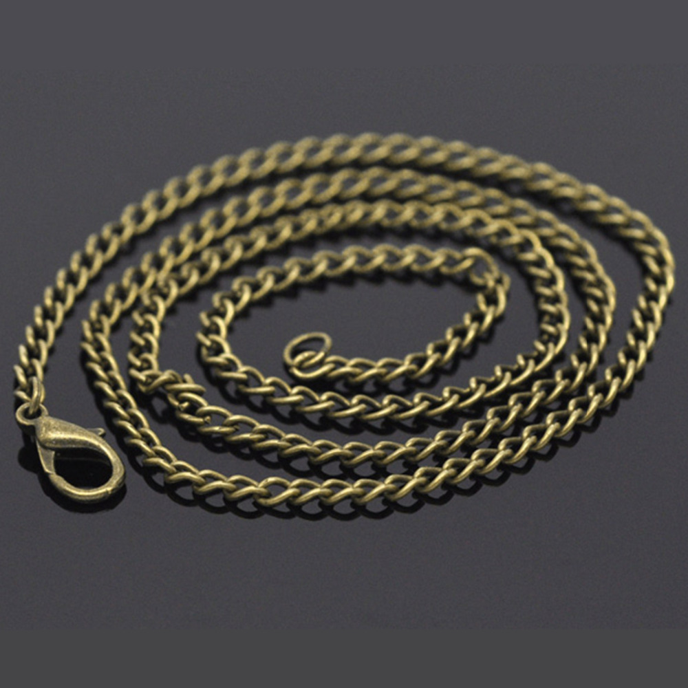 DoreenBeads 12 шт. бронзовые ожерелья с тонкими звеньями, модные ожерелья-цепочки с застежками «Лобстер» длиной 50,9 см (B14106)