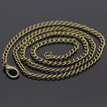 Doreenbeads 12 pçs bronze antigo cor link colares cadeias diy fazer colares lagosta fechos jóias descobertas 50.9cm de comprimento