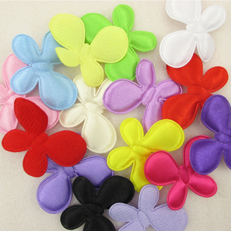45*35mm 100pieces butterfly embroidery patch Headband Child Hairband Kids DIY Craft Newborn Baby Hair Accessories,100Y43471