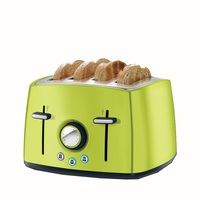 Household Automatic Toaster Multi function 4 Large Slot Toast Stainless Steel Breakfast Machine 6524