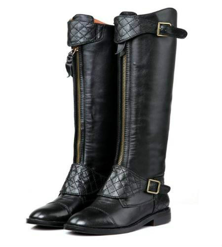 Popular Long Black Boots Flat-Buy Cheap Long Black Boots Flat lots ...