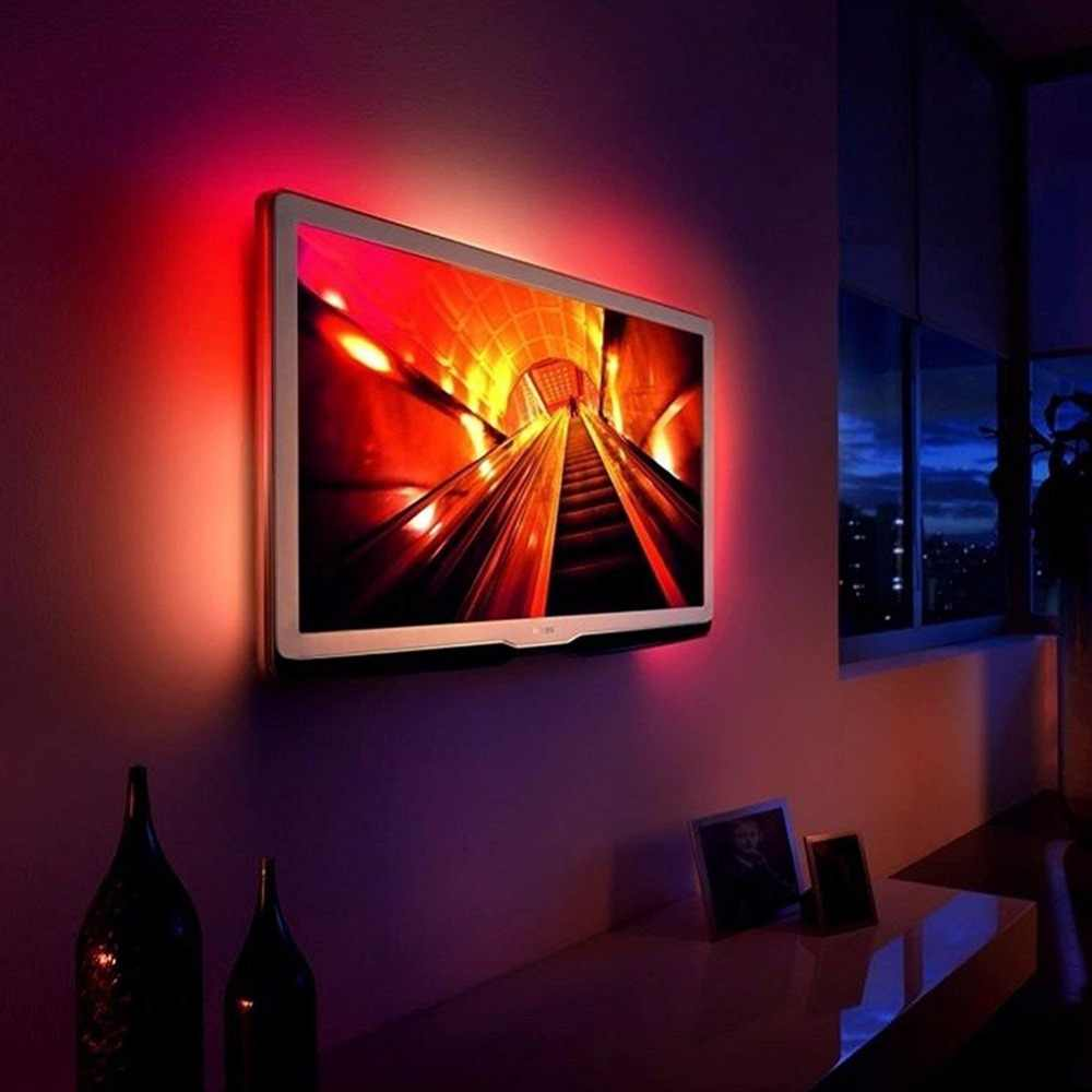 DC 5V LED bande USB câble alimentation Flexible lumière lampe 50CM 1M 2M 3M 4M 5 M SMD 2835 Mini 3Key bureau décor TV éclairage de fond