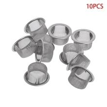 10Pcs Tobacco Smoking Pipe Metal Filter Screen Steel Mesh Co