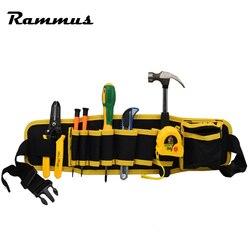 Eletricistas cintura ajustável bolso cinto ferramenta bolsa martelos alicates chave de fenda titular armazenamento mão ferramenta de reparo organizador