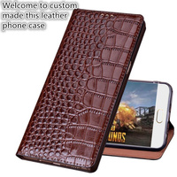 SS02 Genuine leather flip cover with kickstand for Huawei P Smart phone case for Huawei Enjoy 7S leather case