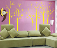 Высокое качество Large1.8m/2.3 м удивительные стены Art наклейки ветви салон номер Виниловые наклейки на стены украсить Y-32