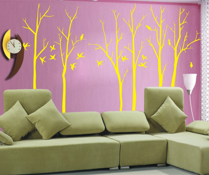 High quality Large1.8m / 2.3m amazing wall art decals branches parlor room vinyl wall decals decorate Y-32