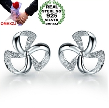 OMHXZJ Wholesale Fashion jewelry Lucky flowers and plants Hot wheels 925 sterling silver Stud earrings YS60