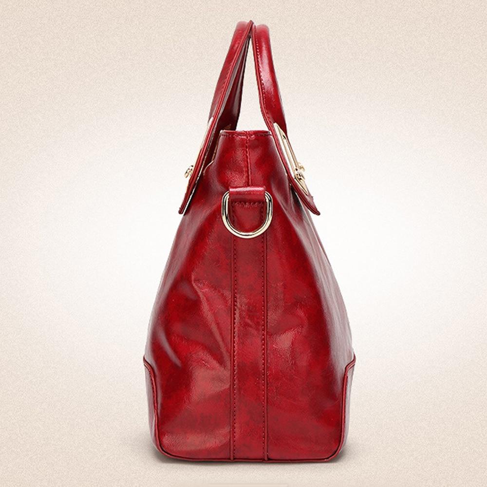 Урожай чанти Висококачествено масло - Дамски чанти - Снимка 3