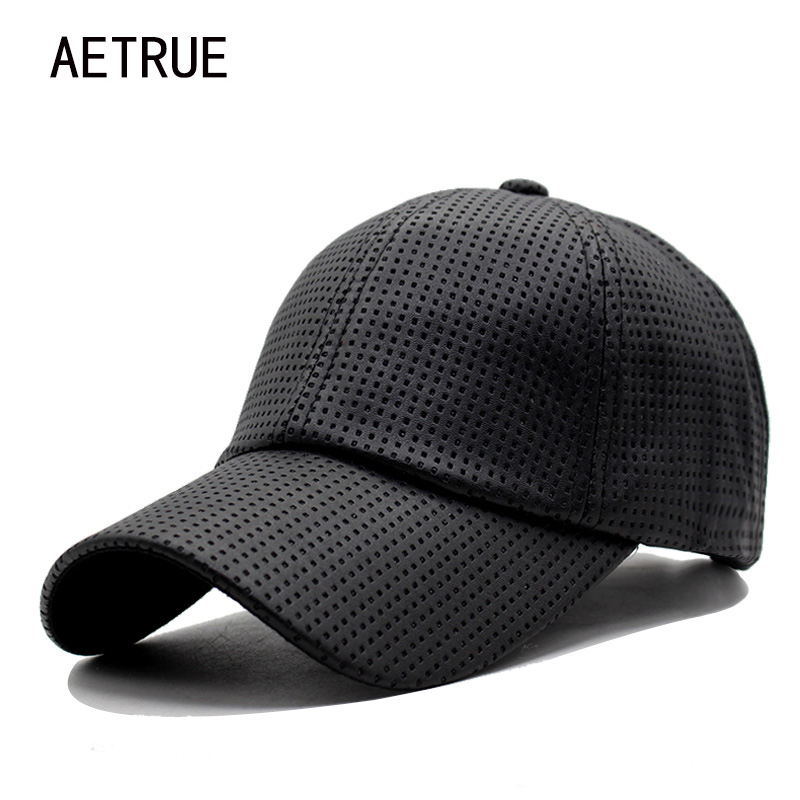 AETRUE Baseball Cap Women Leather Casquette Snapback Caps Men Brand Adjustable Hip hop Bone PU Winter Hats For Men Baseball Cap women cap skullies