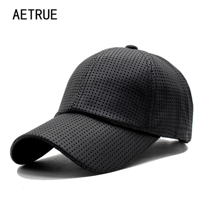 d66c06a17d1 AETRUE Baseball Cap Women Leather Casquette Snapback Caps Men Brand  Adjustable Hip hop Bone PU Winter Hats For Men Baseball Cap