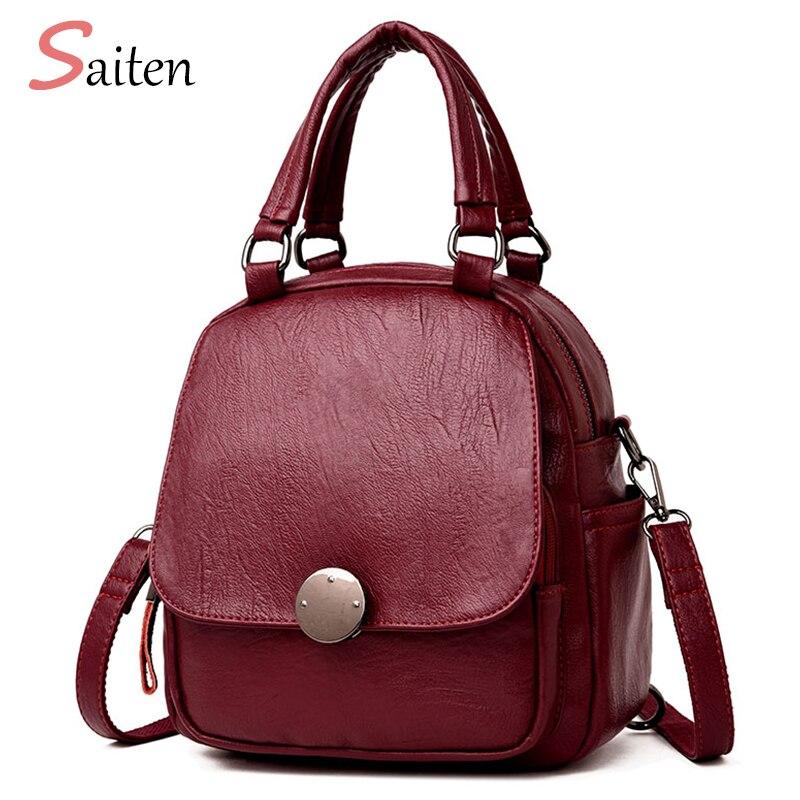 503071fce237 2018 Новый женский рюкзак высокого качества Школьные сумки рюкзаки для  девочек-подростков модный рюкзак из