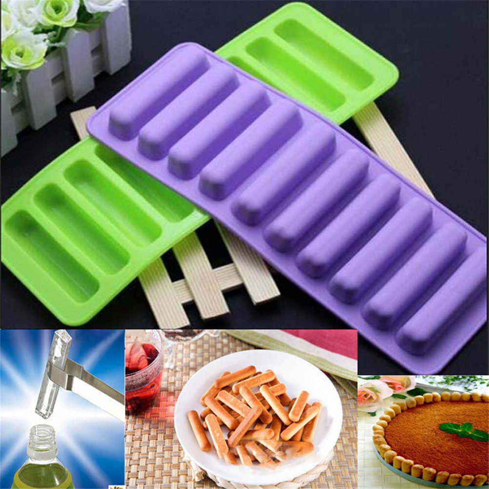 Siliconen Vinger Vorm Tray Freeze Mould Pudding Jelly Biscuit Chocolade Schimmel Cookies Maker Fondant Taart Tools Hot Koop 1 PC