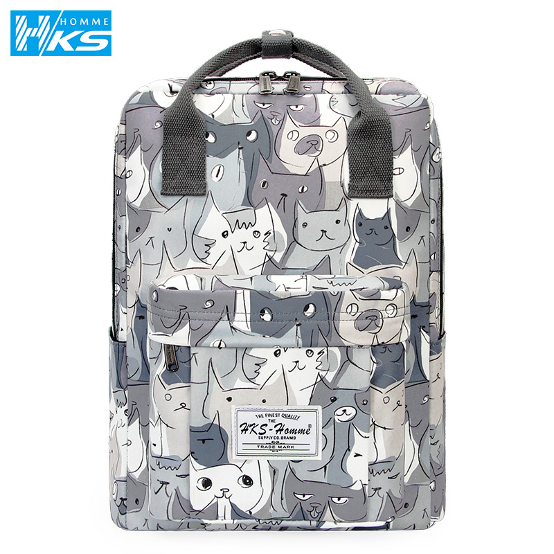New Women's Backpack Female Backpacks School Bag For Girls Fashion Rucksack Waterproof Casval Travel Bag 14 15.6 Inch Laptop Bag