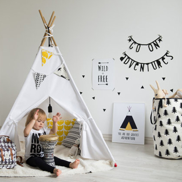 Fedex Free Children Kids Gift Indian Teepee Tent One Window Children Play  House Toy Tents Baby e44786191e5