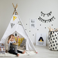 Fedex Free Children Kids Gift Indian Teepee Tent One Window Children Play House Toy Tents Baby Game Room Children Canopy Tents