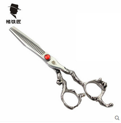 ФОТО 6.0 5.5 inch Thinning Teeth Blade Scissors Hair Shear for Salon Hairdressing Barber Scissor Shears tesoura de cabeleireiro
