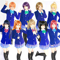 Anime LoveLive Kotori Nozomi Maki Honoka Nico Hanayo Rin Umi LoveLive Cosplay Uniform Costume