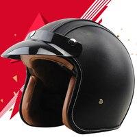 BULR 3 4 Motorcycle Helmet Motorcross Helmet Full Face Vintage Helmet Helmet For Scooter
