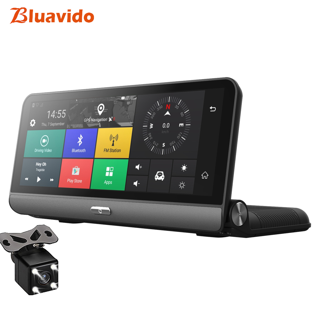 Bluavido 8 Inch 4G Car DVR ADAS Android GPS naivgation HD 1080P Dash camera Video Recorder