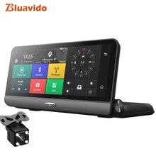Bluavido 8 дюймов 4G Автомобильный видеорегистратор ADAS Android gps naivgation HD 1080 P видеорегистратор камера ночного видения телефон приложение удаленный монитор