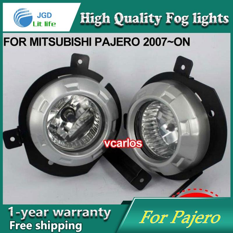 2PCS / Pair Halogen Fog Light For Mitsubishi Pajero 2007-ON High Power Halogen Fog Lamp Auto DRL Lighting Halogen Headlamp комплект проставок для лифт кузова pajero 2