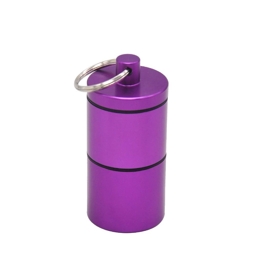 """HORNET Stash Jar-герметичный, устойчивый к запаху алюминиевый контейнер для специй с 2 слоями, чехол для табака """"вы можете собрать его самостоятельно"""" - Цвет: Фиолетовый"""