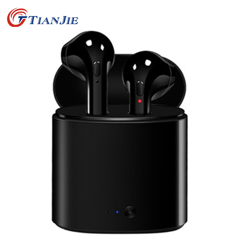 TIANJIE i7s <font><b>tws</b></font> mini bluetooth earphones ture wireless earbuds stereo headphones bluetooth sports music earphone for iphone image