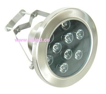 Buena calidad IP68 de alta potencia 9 W llevó la luz de la piscina bajo el agua LED de luz con aro 9X1 W, 12 V de CC, DS-10-30-9W, acero inoxidable
